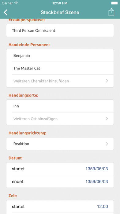 Screenshot for Story Planner for Autoren in Switzerland App Store