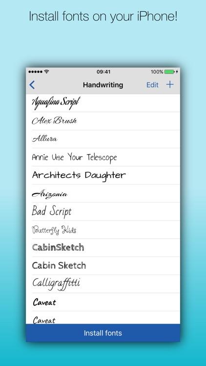 Fonteer - Install fonts (Premium) screenshot-0