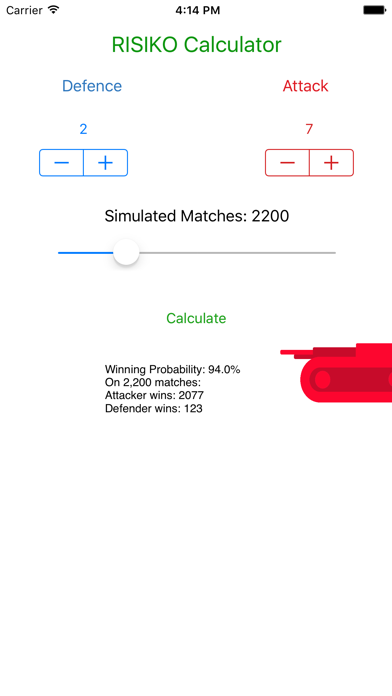 RISIKO Calculator