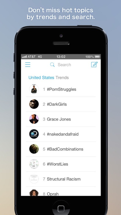 Falcon for Twitter - Twitter client that specializes in streaming search screenshot-3