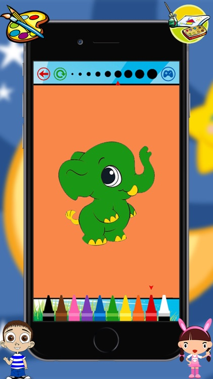 Baby Animals Kids Coloring Book For kindergarten and toddler screenshot-3