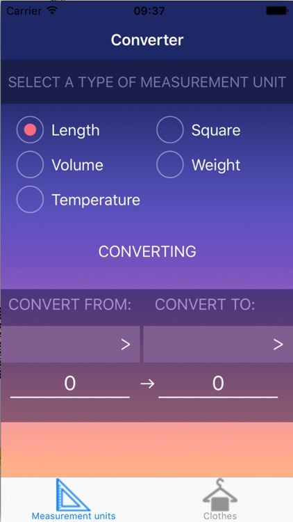 All clothes sizes and basic units converter - M&S Converter (Measures and sizes converter)