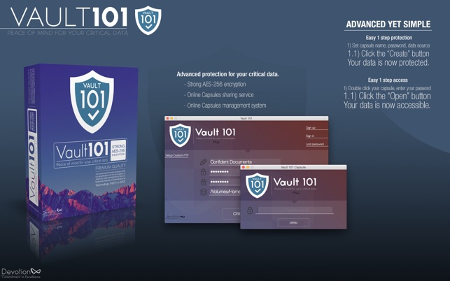 Vault 101 - password protect files and folders Screenshot