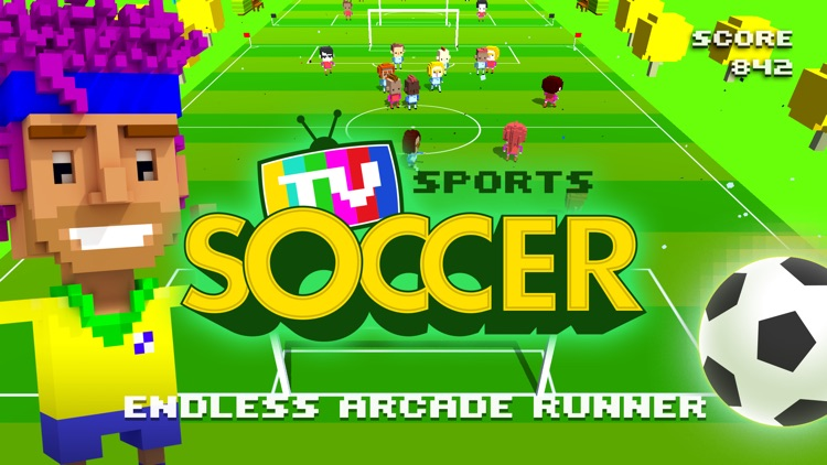 TV Sports Soccer - Endless Blocky Runner screenshot-0