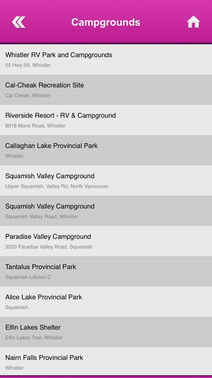 British Columbia Campgrounds and RV Parks screenshot-4