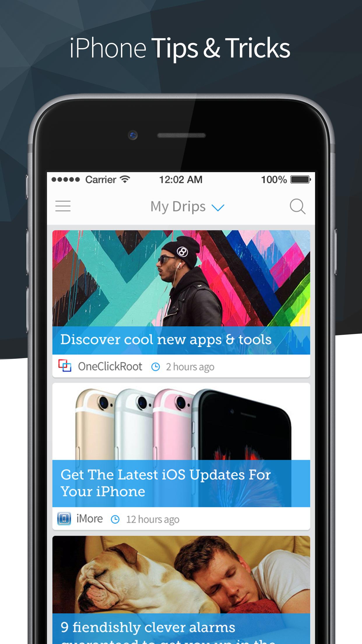 Drippler: Discover Apps & Tips Screenshot