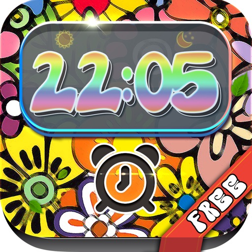 iClock – Hippie : Alarm Clock Wallpapers , Frames and Quotes Maker For Free