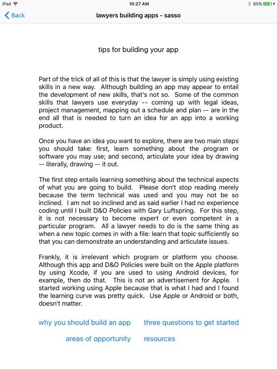 lawyers building apps screenshot-3
