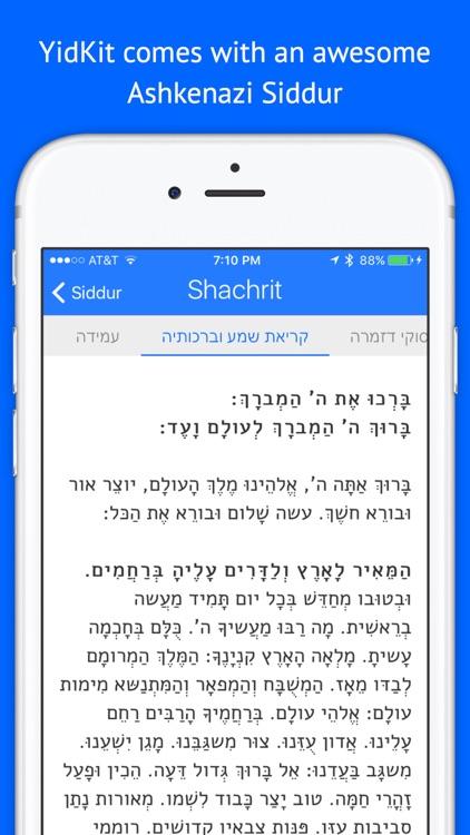 YidKit: Siddur, Zmanim, and more!