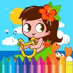 çocuk Hayvan çiçek Boyama Kitabı çocuk Oyunları Için çizim App