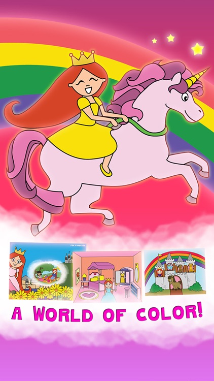Princess Fairy Tale Coloring Wonderland for Kids and Family Preschool Ultimate Edition screenshot-0