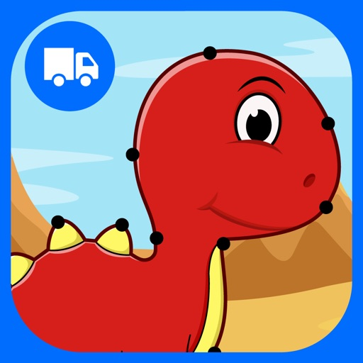 Dinosaurs Connect the Dots and Coloring Book Free iOS App