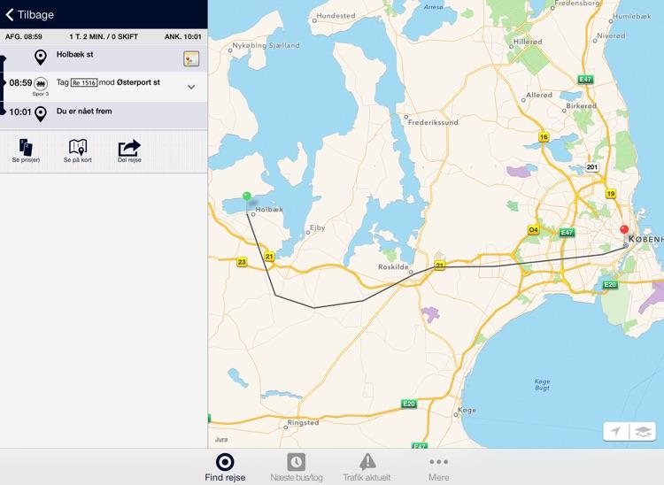 Rejseplanen til iPad