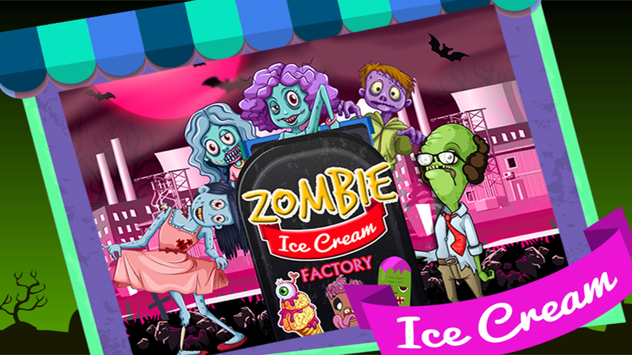 Zombie Ice Cream Factory Simulator - Learn how to make ...