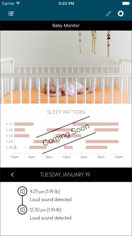 Tend Baby App for the Kodak Baby Monitoring System