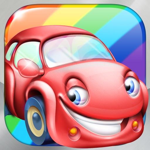 Rainbow Cars - Kids Learn COLORS through Fun Games