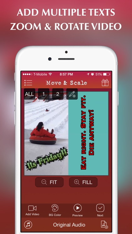 Text On Video Pro- Add multiple animated captions and quotes to your movie  clips or videos for Instagram by VendiApps