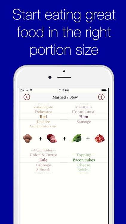 Portion Control healthy recipe assistant