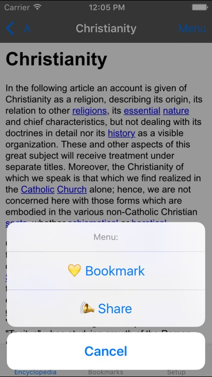 Catholic Encyclopedia Offline screenshot-3