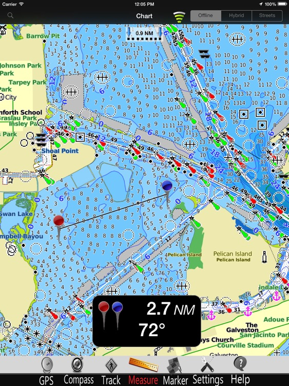 Texas GPS Nautical Charts Pro screenshot-2