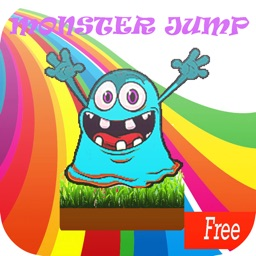 cute monster jump for kids