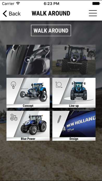New Holland Agriculture T7 Heavy Duty range app screenshot two
