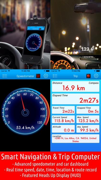 Smart Speed Tracker - GPS Speedometer, HUD and Trip Computer