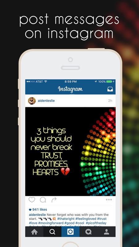 InstaMessage - Post Text Messages on Instagram - Online Game