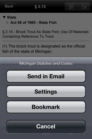 Michigan Laws (MCL), MI Code screenshot 3