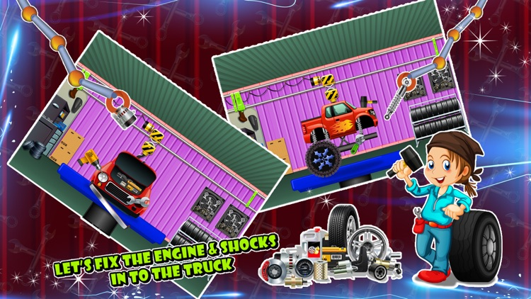 Monster Truck Builder - Build 4x4 vehicle in this crazy mechanic game for kids