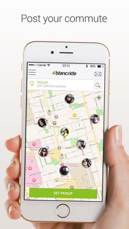 BlancRide – Social Transportation Network