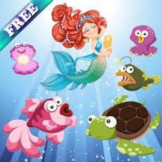 Activities of Mermaids and Fishes for Toddlers and Kids : discover the ocean ! FREE app