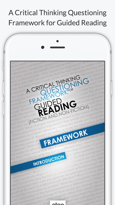 A Critical Thinking Framework for Guided Reading (Fiction