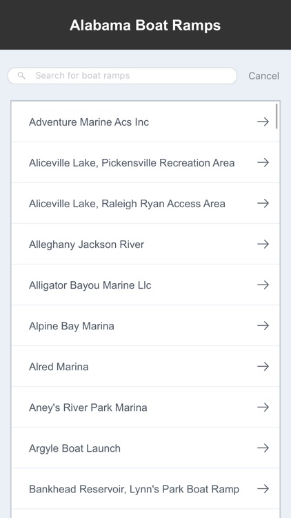 Alabama Boat Ramps & Fishing Ramps screenshot-1