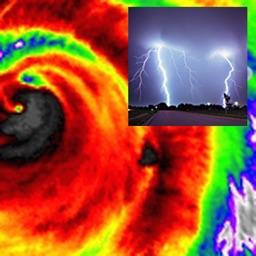 US NOAA Storms with NOAA Radar 3D Free  - Tornado Hail Wind Alerts