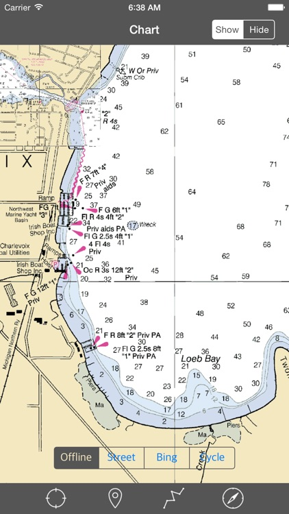 Lake Charlevoix (Michigan) – Raster Nautical Charts