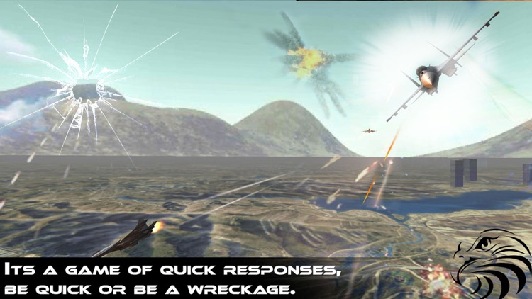 Jet Fighter Dogfight Chase - Hybrid Flight Simulation and Action game 2016 screenshot-0