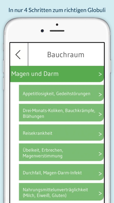 Screenshot for Homöopathie für Kinder - 130 Globuli für über 400 Beschwerden in Spain App Store