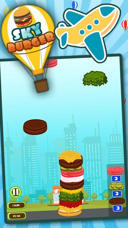 Sky Burger Mania Restaurant : Sky High Burger Tower a Burger maker game screenshot-3