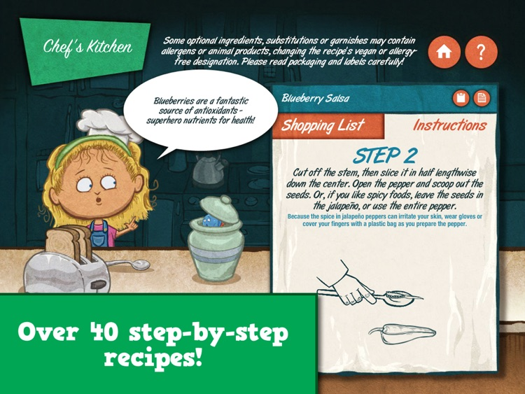 Veggie Bottoms Kitchen – The Fun Kids Cookbook screenshot-0