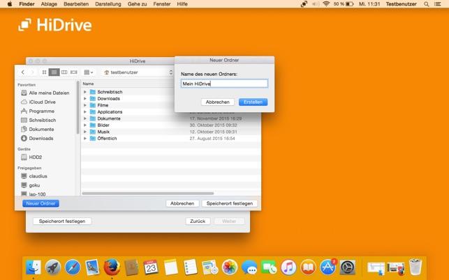 HiDrive App Screenshot