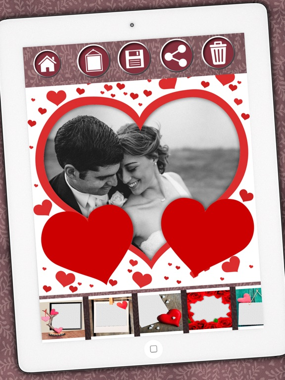 Love photo frames - Photomontage love frames to edit your romantic ...