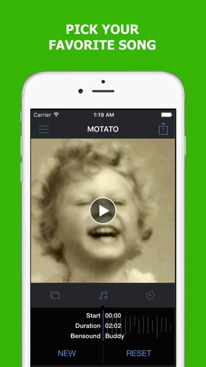 Motato: Morph Face Pictures for Slideshow Maker