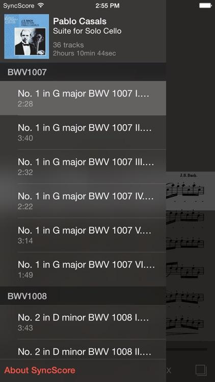 Bach Cello Suites - SyncScore