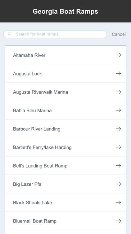 Georgia Boat Ramps & Fishing Ramps