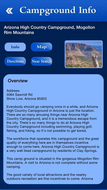 Arizona Campgrounds and RV Parks