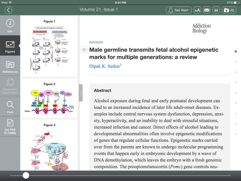 Screenshot of Addiction Biology