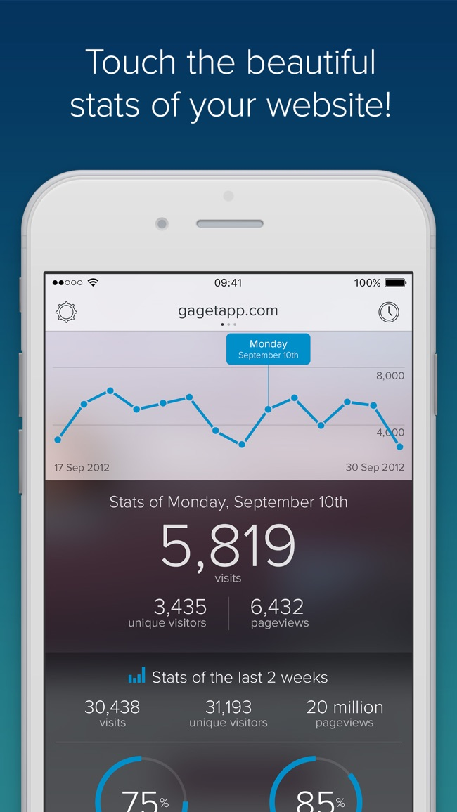 GAget - Google Analytics for iPhone Screenshot