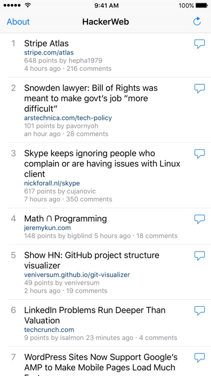 HackerWeb - Hacker News client