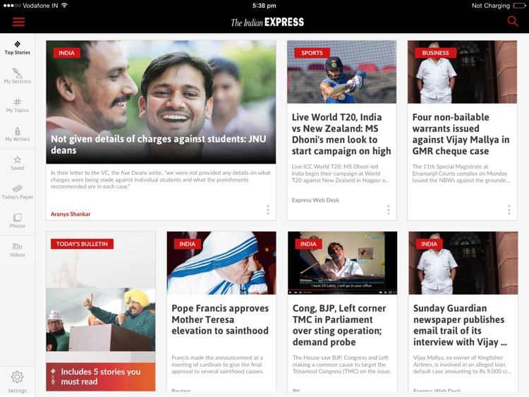 The Indian Express for iPad